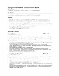 Cost Estimator Resume Examples Construction Worker Editing