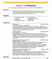 Event Planner Resume Objective Event Coordinator Resumes Carinsurancequotes66 Info