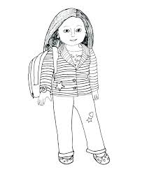 American Girl Coloring Page Girl Color Pages Girl Color Pages Girl