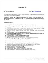 Kunwar resume SAP consultant. KUNWAR GOYAL Mob: 7219210701, 8600993913  Email: kunwar_goyal@yahoo.com An overall ...