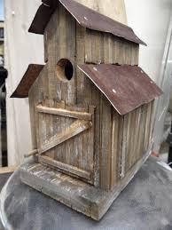 Birdhouse Barn Birdhouse Old Sawmill Rustic Birdhouse Functional