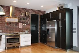 Industrial Kitchen Flooring Kitchen Style Attractive Brick Kitchen Design With Rustic Stools