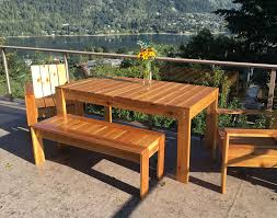 Best Picnic Table Designs Simple Outdoor Dining Table Ana White
