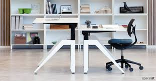 office desk standing. Cabale White Standing Desk With Angled Leg Office D