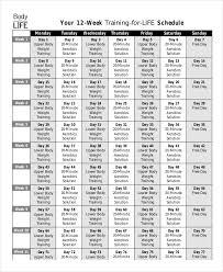 12 Week Calendar Template Weekly Calendar Template 12 Word Excel Pdf Documents