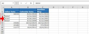 Convert Julian Date To A Calendar Date In Microsoft Excel
