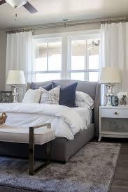 grey bedroom white furniture. Guestroom Inspiration Alice Lane Home Collection | Daybreak Lake Loft Gray Upholstered Bed In Master Bedroom, White Bedding And Neutral Decor Lindsay Grey Bedroom Furniture V