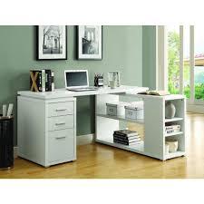 monarch specialties 2 piece white office suite