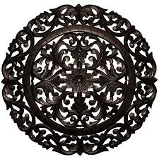 This item comes shipped in one carton. Fetco Home Decor Leroy Handcrafted Round Wall Medallion 36 Large Distressed Black Medallion Wall Decor Wall Medallion Cow Wall Decor