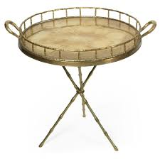 Butler Tray Coffee Table Faux Bamboo Brass Butlers Tray On Tripod Stand At 1stdibs