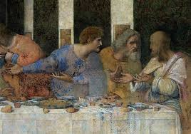 detail from the last supper painting by leonardo da vinci