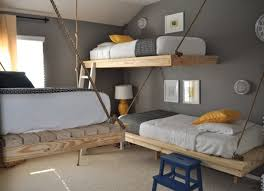 unique bunk beds. This Simple DIY Wooden Bunk Bed Can Fit Into The Corner Of Nearly Any Room. Curtains Give Child On Lower Some Privacy As Well A Fun Unique Beds S