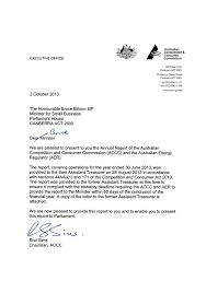 Letter Report Accc Aer Annual Report 2012 13 Letters Of Transmittal Accc