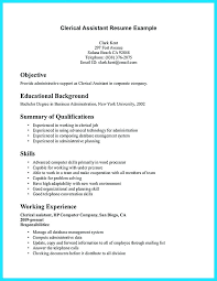 Clerical Work Resume Sample Resume Objectives For Clerical Position
