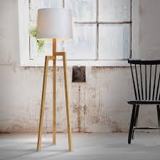 Houten Staande Lamp Free Staande Lamp Gemaakt Van Een Liaanhouten