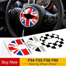 <b>1pc</b> Union Jack Checker PVC Vinyl Car Steering Wheel Stickers ...