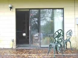 exterior view sliding glass door from outside patio
