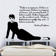 Small Picture Audrey Hepburn Quote Design 2 Decal Wall Sticker CFQ2