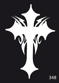 šablona 348 Křížek Velikost 5x7 Cm