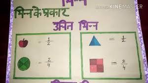 Chart On Maths Topic Bhin Fraction For D El Ed Jbt Youtube