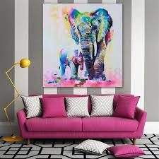 home office repin image sofa wall. elephant print picture canvas baby multi watercolour home decor wall art gift office repin image sofa
