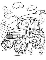 Kleurplaat Tractor Tom