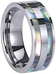 LAMUCH Mens Silver 8MM <b>Tungsten Steel Ring Rings</b> Men