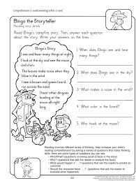 Bingo the Storyteller - Reading Worksheet for 2nd Grade | Language ...