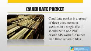 3. CANDIDATE PACKET ...