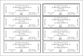 tickets template dinner ticket template