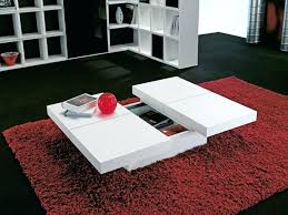 modern white coffee table wide coffee tables with storage high gloss white modern swivel coffee table