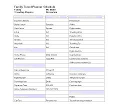 Trip Schedule Template Travel Schedule Template Free Itinerary Business Travel Budget