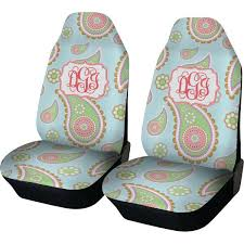 personalized baby car seat cover blue paisley car seat covers set of two personalized