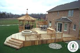 Backyard Deck Designs Plans Awesome Inspiration Design