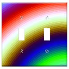 Distributor Plate Design Switch Plate Double Toggle Graphic Background Rainbow