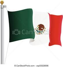 mexican flag waving drawing. Simple Mexican Waving Mexico Flag Isolated On A White Background Vector Illustration Inside Mexican Drawing G