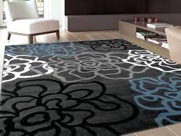 modern area rugs 6x9 fl flowers dark grey contemporary modern area rug 5 3 x 7