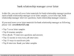 covering letter for bank bank relationship manager cover letter