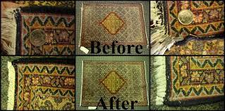 hand repair on a persian carpet