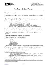 how to write a critical review writing a critical review what is a critical review a critical review is a review