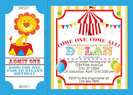 Circus Party Invitation Impressive Circus Party Invitations Weareatlove