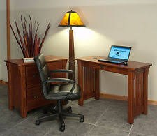 mission style solid oak office computer. Home Office Computer Desk Solid Oak Mission Style #143 A