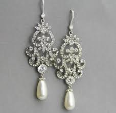 long bridal chandelier earrings long wedding earrings crystal and pearl earrings vintage style jewelry crystal chandelier earrings