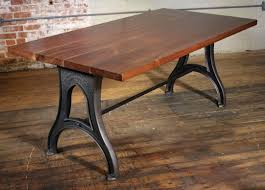 cast iron desk bespoke walnut desk with cast iron legs industrial modern  work custom table 2