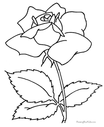 coloring book flower. Delighful Coloring Flower Coloring Book Page Of A Rose Inside Coloring Book N