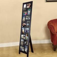 adeco opening black wood floorstanding easel photo frame  by