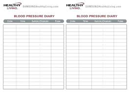 Printable Blood Pressure Chart 12 Blank Blood Pressure Chart Cover Letter