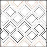38 best Quilting Pantographs images on Pinterest | Free motion ... & Diagonal Plaid quilting pantograph pattern by Patricia Ritter of Urban  Elementz Adamdwight.com