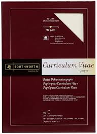 Southworth Resume Paper 12 Southworth A4 Ivory Curriculum Vitae CV  Watermarked Inkjet Paper 80 Sheets
