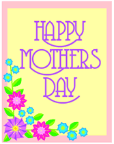 Mothers Greeting Card Country Floral Border Happy Mothers Day Printable Greeting Card